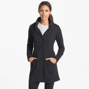 PRANA | Mariska Black Knit Peacoat Jacket Large